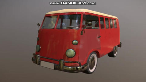 volkswagen T1 3D Model