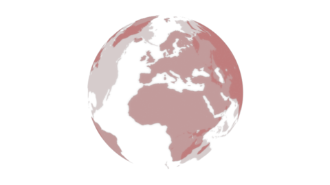 Translucent Earth-red Animation