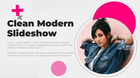 Clean Modern Slideshow After Effects Template