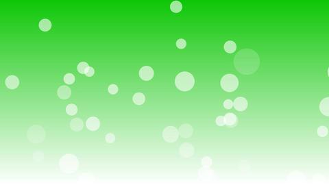 シャボンもしくは泡が下から上へとフワフワ昇っていく 背景グリーン CG動画