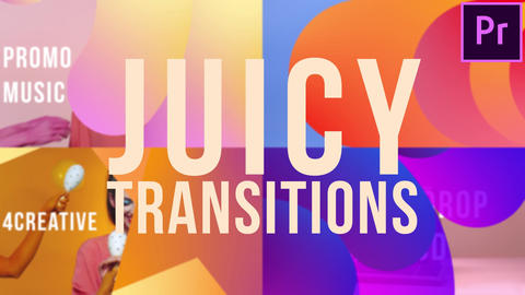 Juicy Transitions Motion Graphics Template