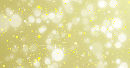 christmas golden sparkle background with stars and bokeh, gold holiday happy Live Action