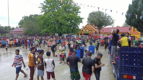 Songkran festive and is believed to wash away bad luck Live Action