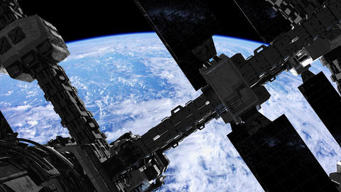 International Space Station in outer space over the planet Earth Acción en vivo