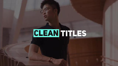 Clean Titles Apple Motion Template