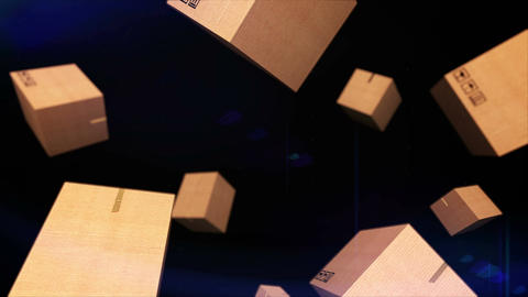 Falling cardboard Animation