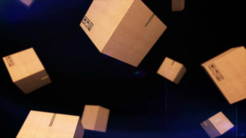 Falling cardboard Stock Video Footage