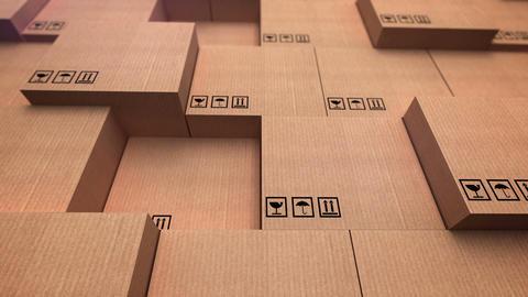 A distribution warehouse Animation