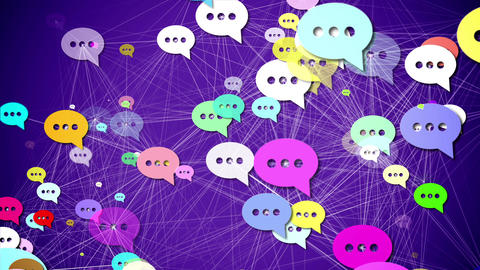 Messages. Social media concept CG動画素材