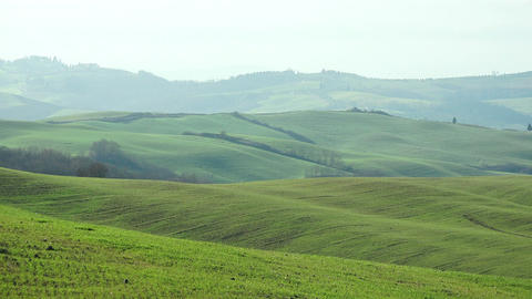 tuscany landscape of the countryside near Siena Footage