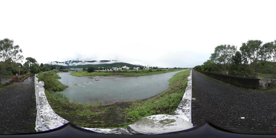 360VR video at the Guanghuanjingguan Bridge, Guangfu township Footage