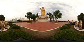 360VR video of Fo Guang Shan Monastery, great buddha land Footage