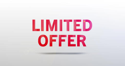 Limited offer. Particle Logo. Red Text Animation Animation