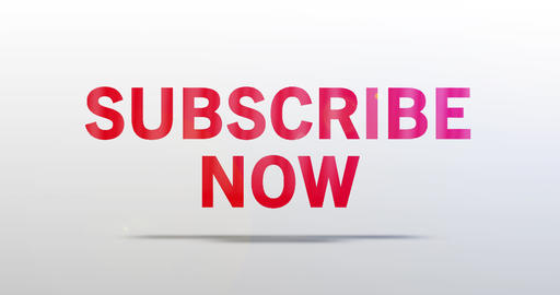 Subscribe now. Particle Logo. Red Text Animation Animation