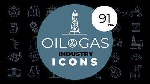 Oil & Gas Industry Icons After Effects Template