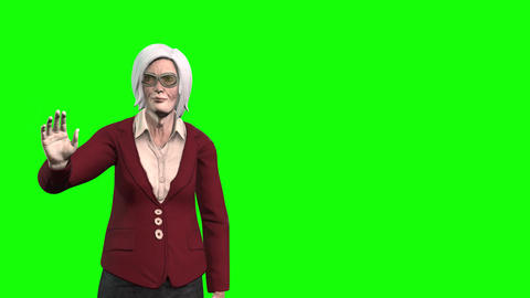 914 HD old woman WAVING by window Animation