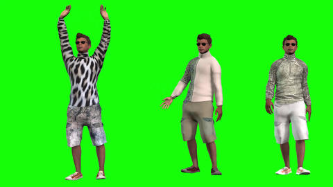 923 HD 3D animated afroamerican boys with different gestures DIVERSITYP5BRIEF Animation