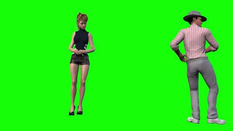 920 HD PARTY LOVE 3D man invite woman to dancer eadiy dance Animation