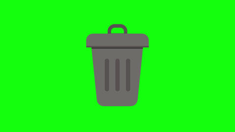 color trash bin delete recycle bin delete garbage delete trash bin icon recycle bin icon garbage Animation