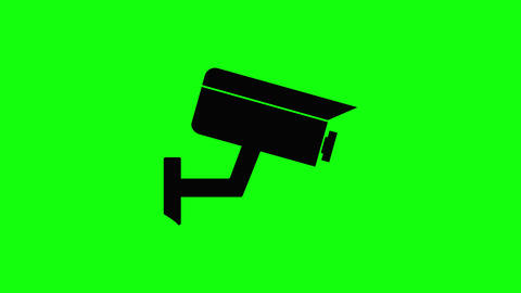 Black camera icon cctv security icon surveillance icon camera flat security flat surveillance flat Animation