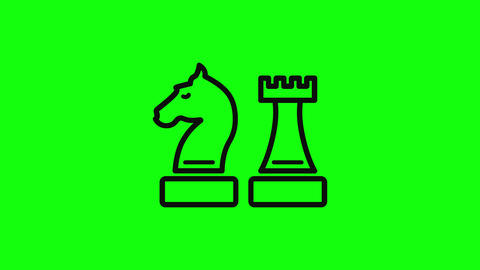 Transparent chess piece horse game horse strategy horse chess tower game tower strategy tower chess Animation
