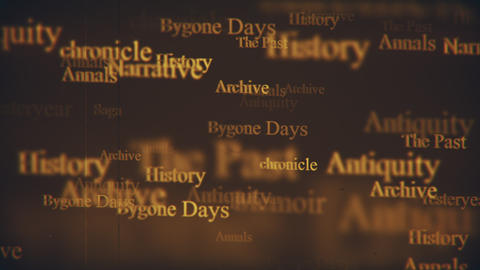 History Themed Typographic Motion Background Animation