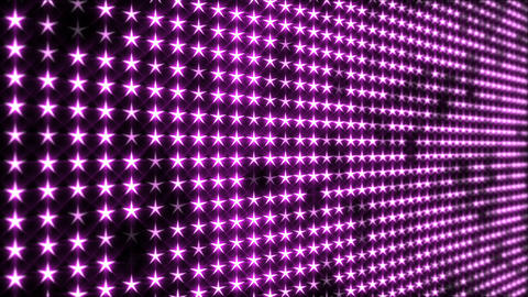 Flashing Pink, Star Shaped LED Lights Display Animation