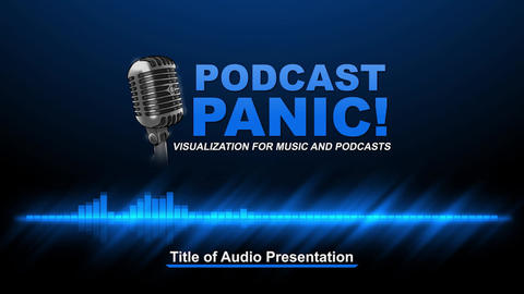 Podcast Panic Audio Visualization Template After Effects Template