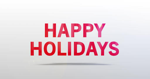 Happy Holidays. Particle Logo. Red Text Animation Animation