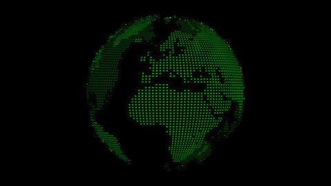 Dots Earth-green Videos animados