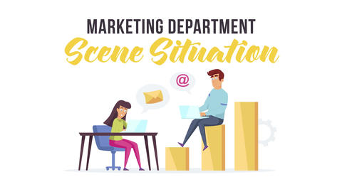 Marketing department - Scene Situation After Effects Template