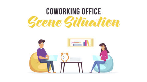 Coworking office - Scene Situation After Effects Template