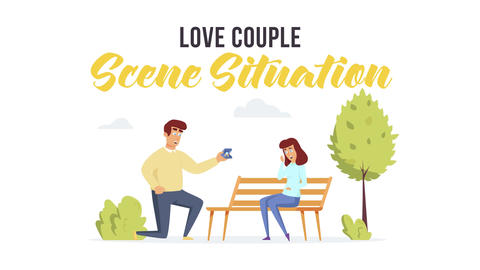 Love couple - Scene Situation After Effects Template