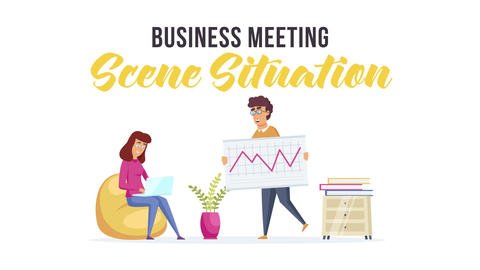 Business meeting - Scene Situation After Effects Template