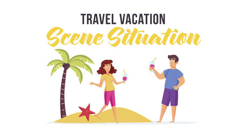 Travel vacation - Scene Situation After Effects Template