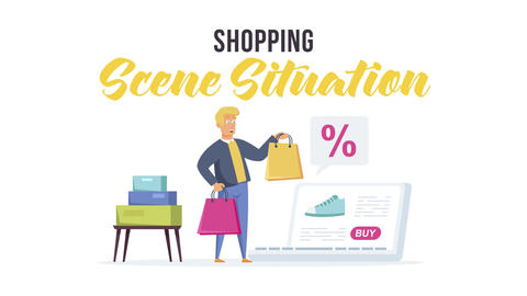Shopping - Scene Situation After Effects Template