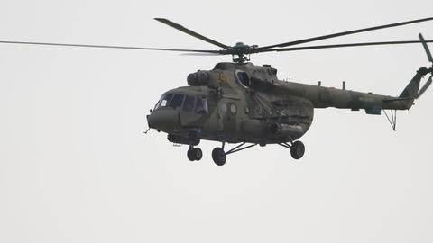 Military helicopter landing Live Action