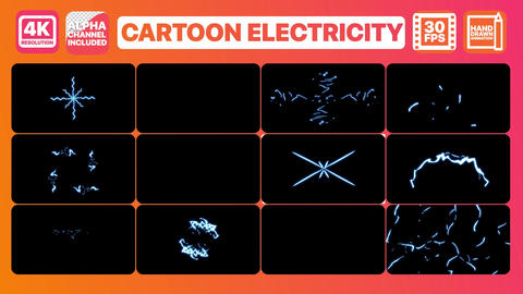 Cartoon Electricity Apple Motion Template