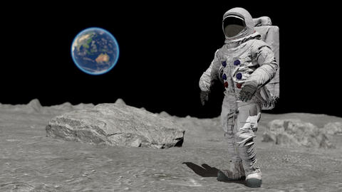 Dancing of Astronaut on the moon. Elements of this video furnished by NASA ライブ動画