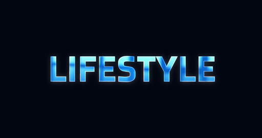 Lifestyle. Electric lightning word. Text Animation Animation
