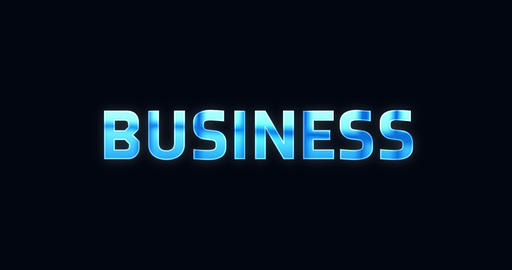 Business. Electric lightning word. Text Animation Animation