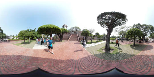 360VR video at Anping Old Fort, Fort Zeelandia Footage