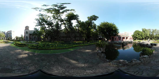 360VR video of Oxford College garden in Tamsui Live Action