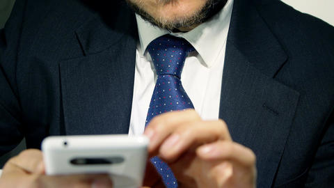 businessman using smartphone Footage