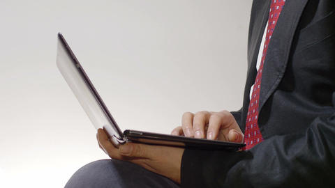 businessman at work with laptop computer Footage