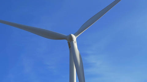 windmill blade, wind turbine producing energy: renewable energy, green energy Footage