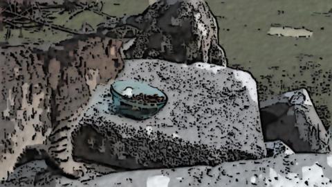 Cartoon cat relax on Videos animados