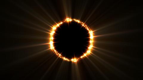 Golden Light Ring Loop Animation
