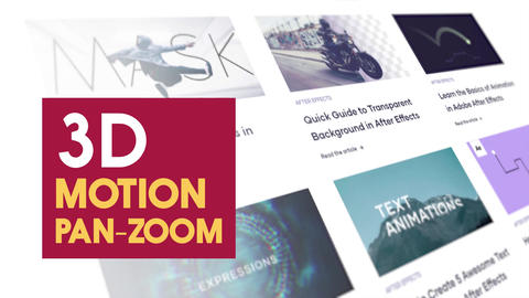 3d Motion Pan and Zoom After Effects Animation Preset