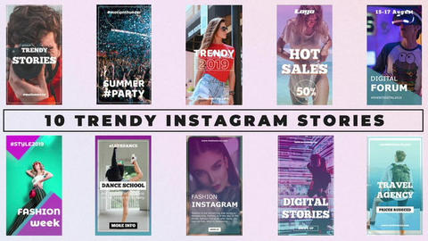 Trendy Instagram Stories After Effects Template